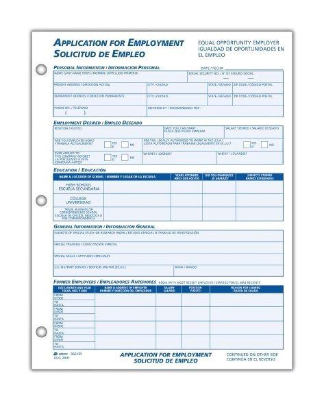 bilingual employee application english spanish
