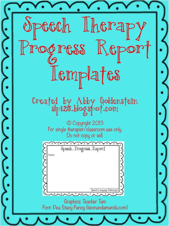 free speech therapy progress report