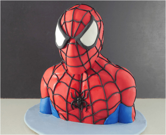 3d spiderman cake tutorial