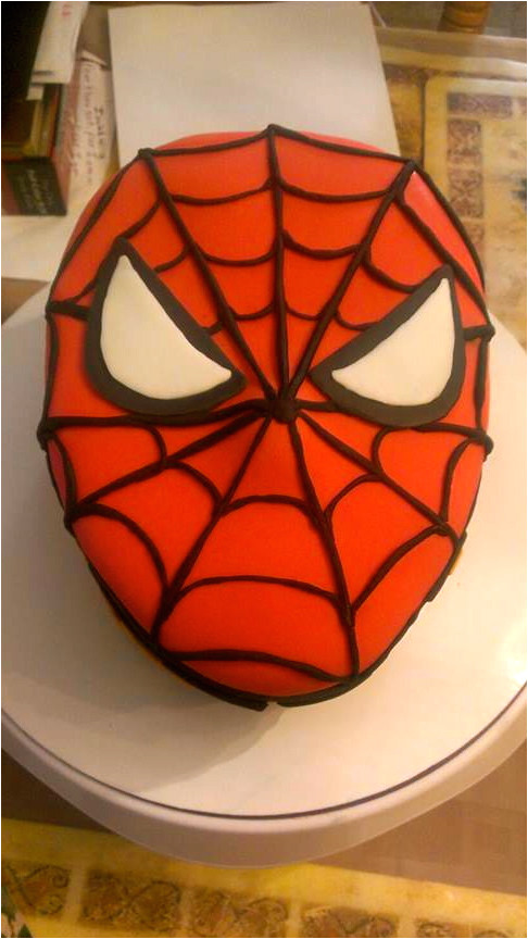 spiderman template for cake