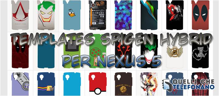 templates spigen hybrid per nexus 5