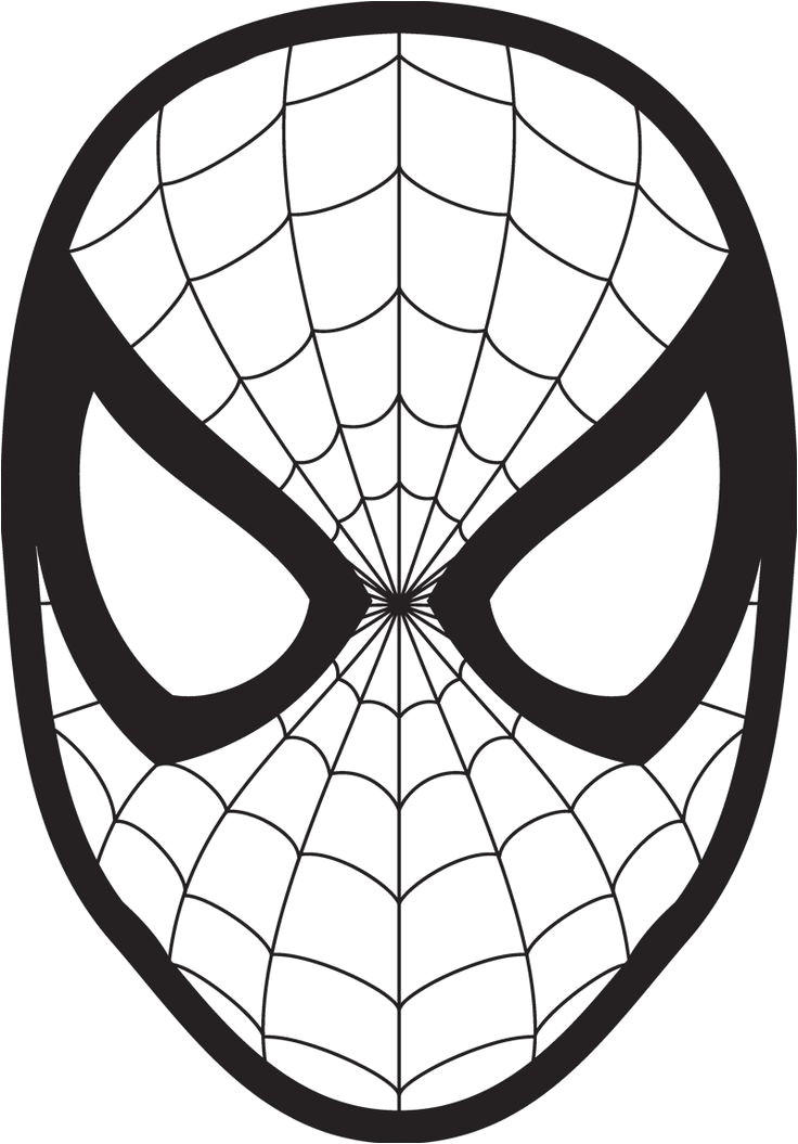 Spoderman Template Spiderman Face Logo Spiderman Mask Clipart 23425wall Jpg