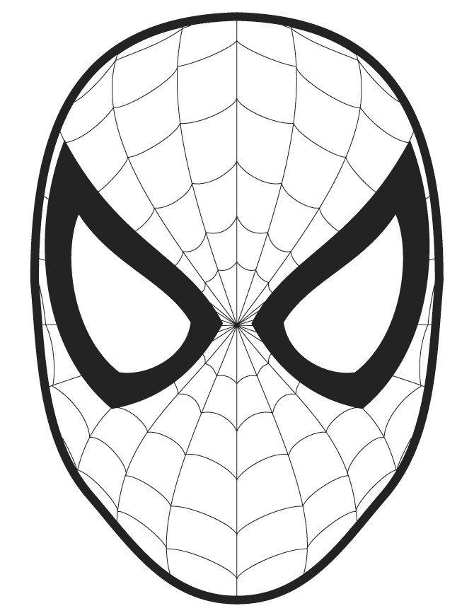 spiderman face template