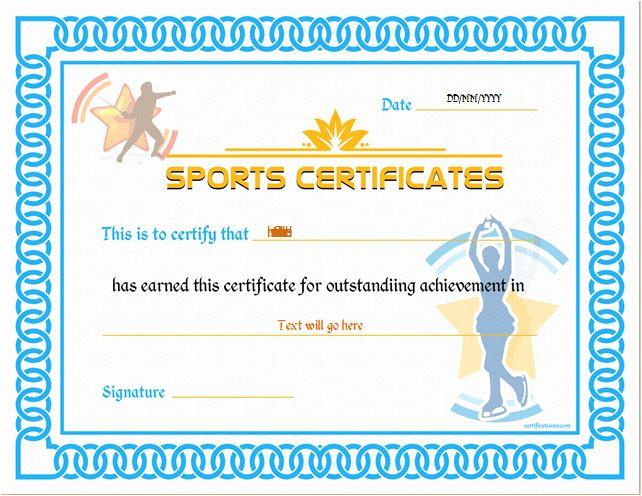 sports certificate templates 1735