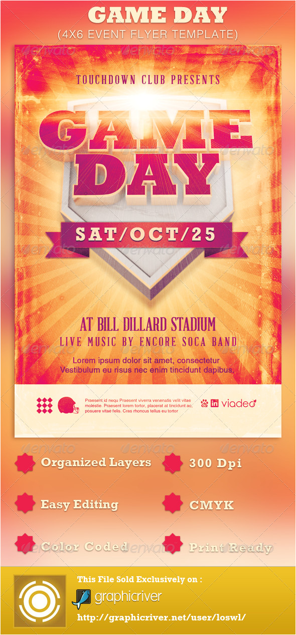Sports Day Poster Template Game Day event Flyer Template by Loswl Graphicriver