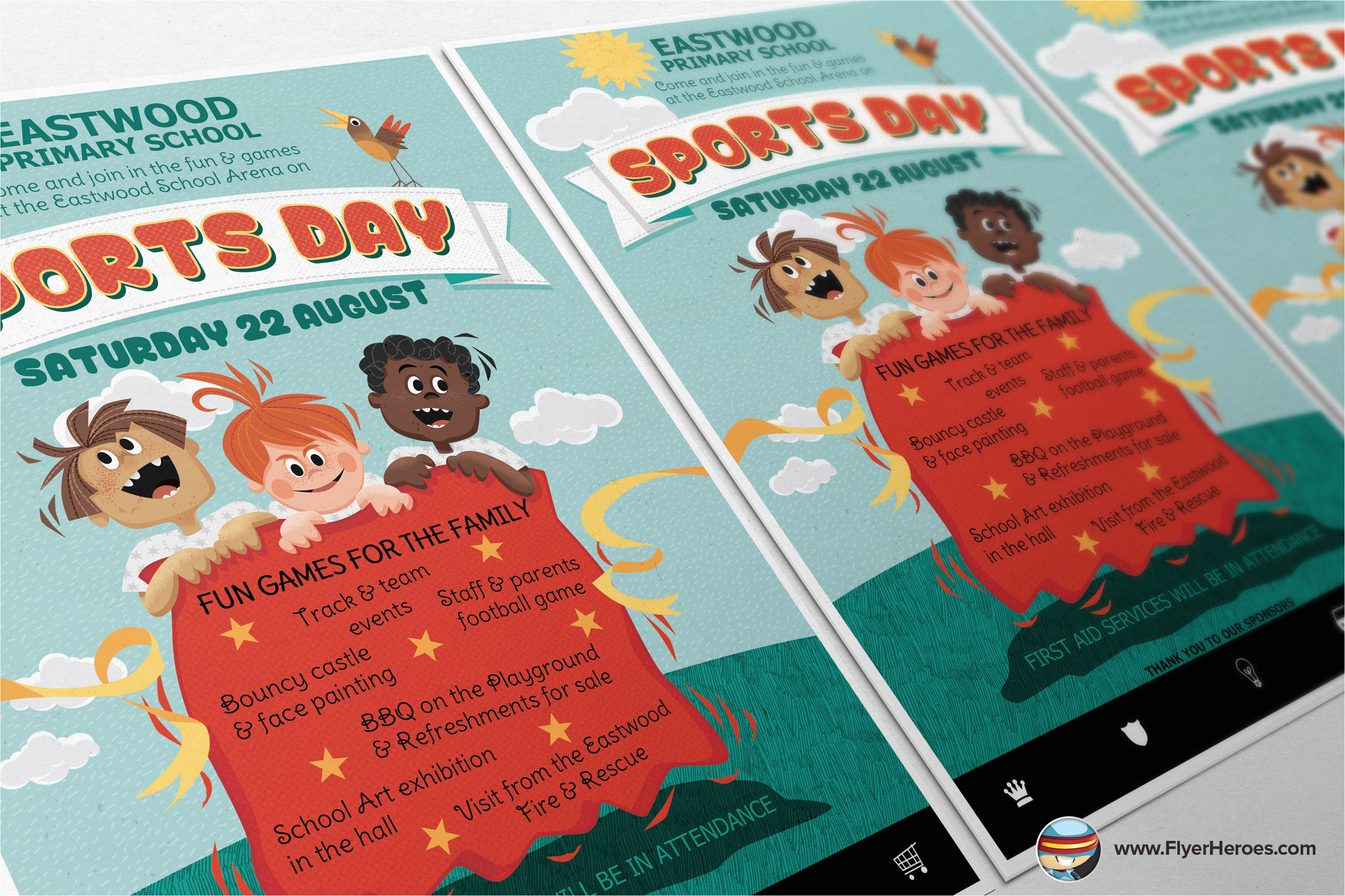 216710 kid e2 80 99s sports day flyer template