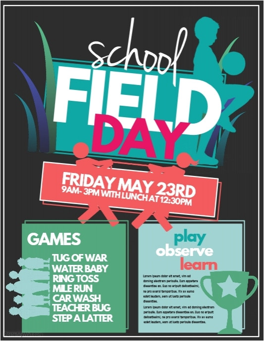 sports day poster template
