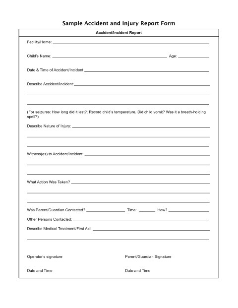 Sports Injury Report form Template 25 Lovely Pictures Of Injury Report form Template Cover