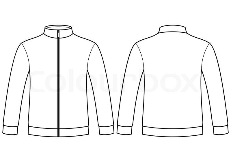 blank sweatshirt template vector 7827047