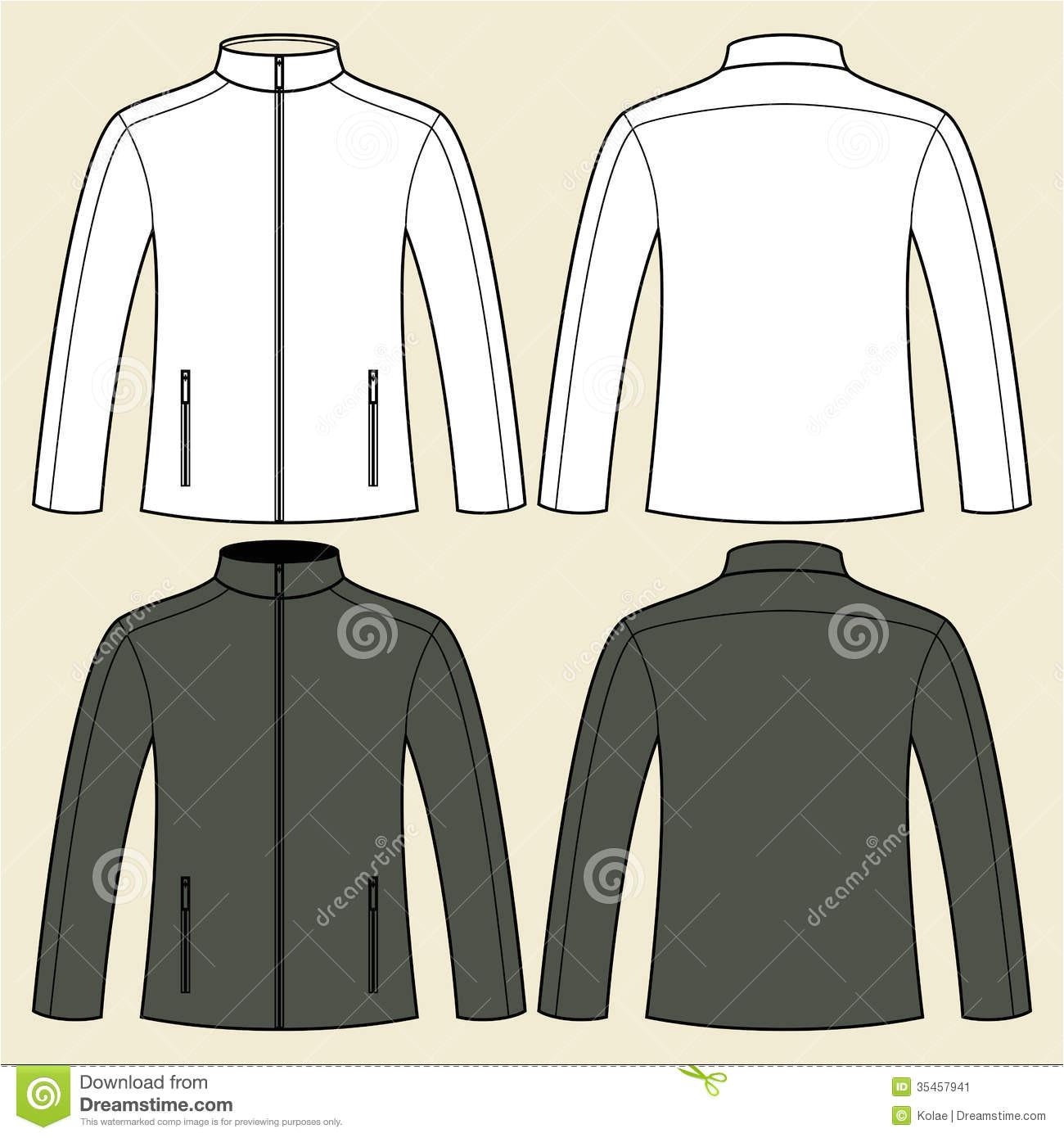 stock image jacket template front back illustration sportswear image35457941