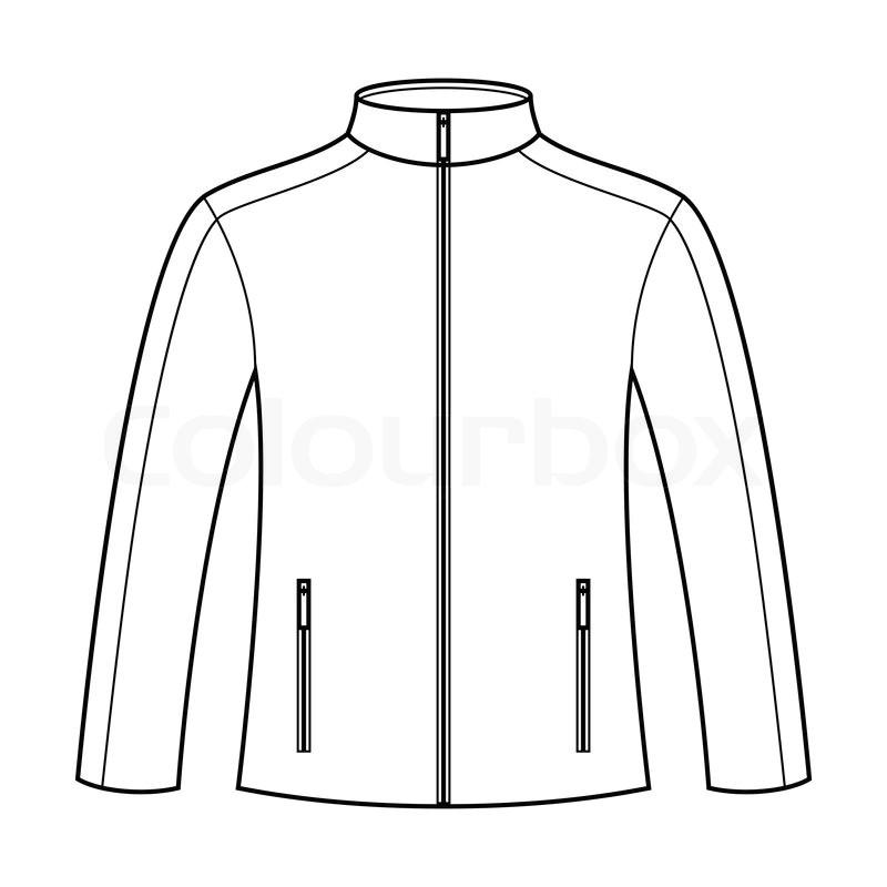 Sports Jacket Template Jacket Template Stock Vector Colourbox