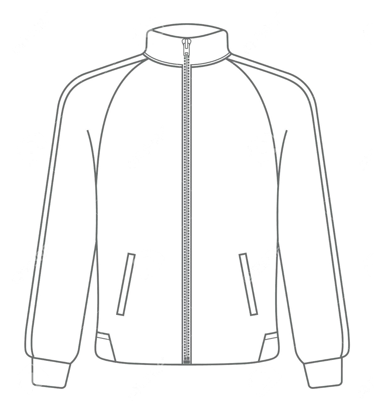 sports jacket template polo sport mock up outline illustration of black face view vector free