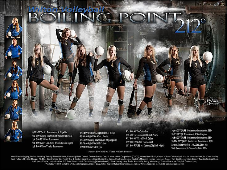 athletic team poster creation