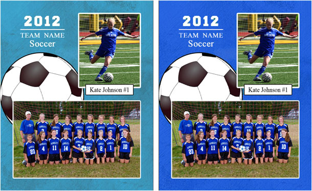 Sports Team Photo Templates Matching Template Colors Tutorial Pictocolor software