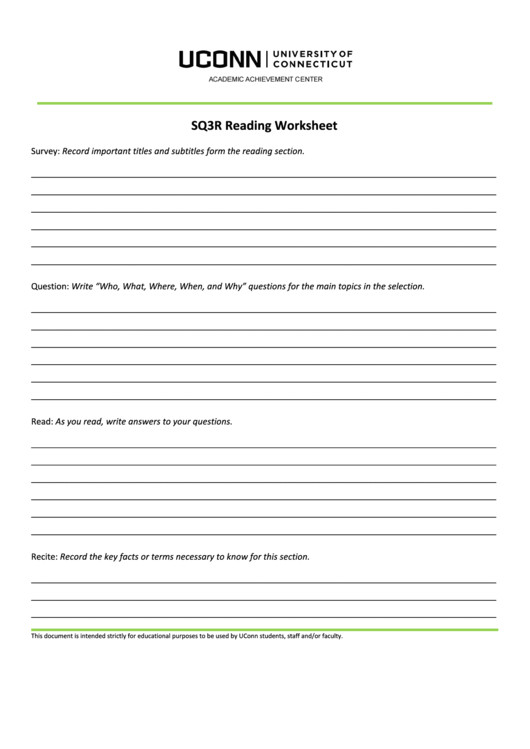 sq3r reading worksheet