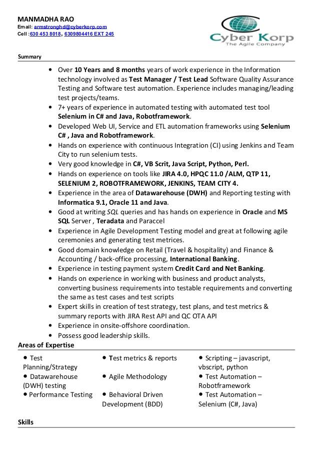 sqa resume