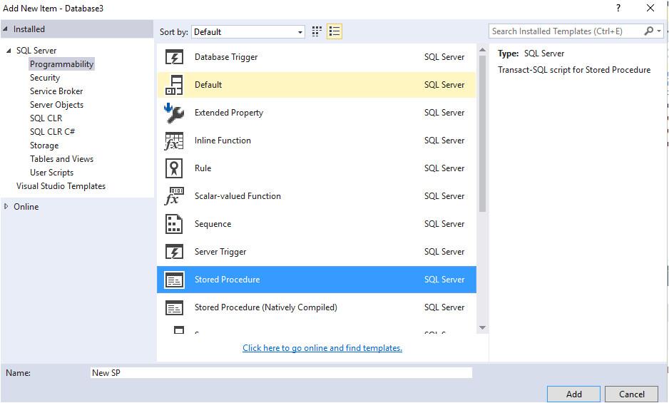 custom templates for sql database files