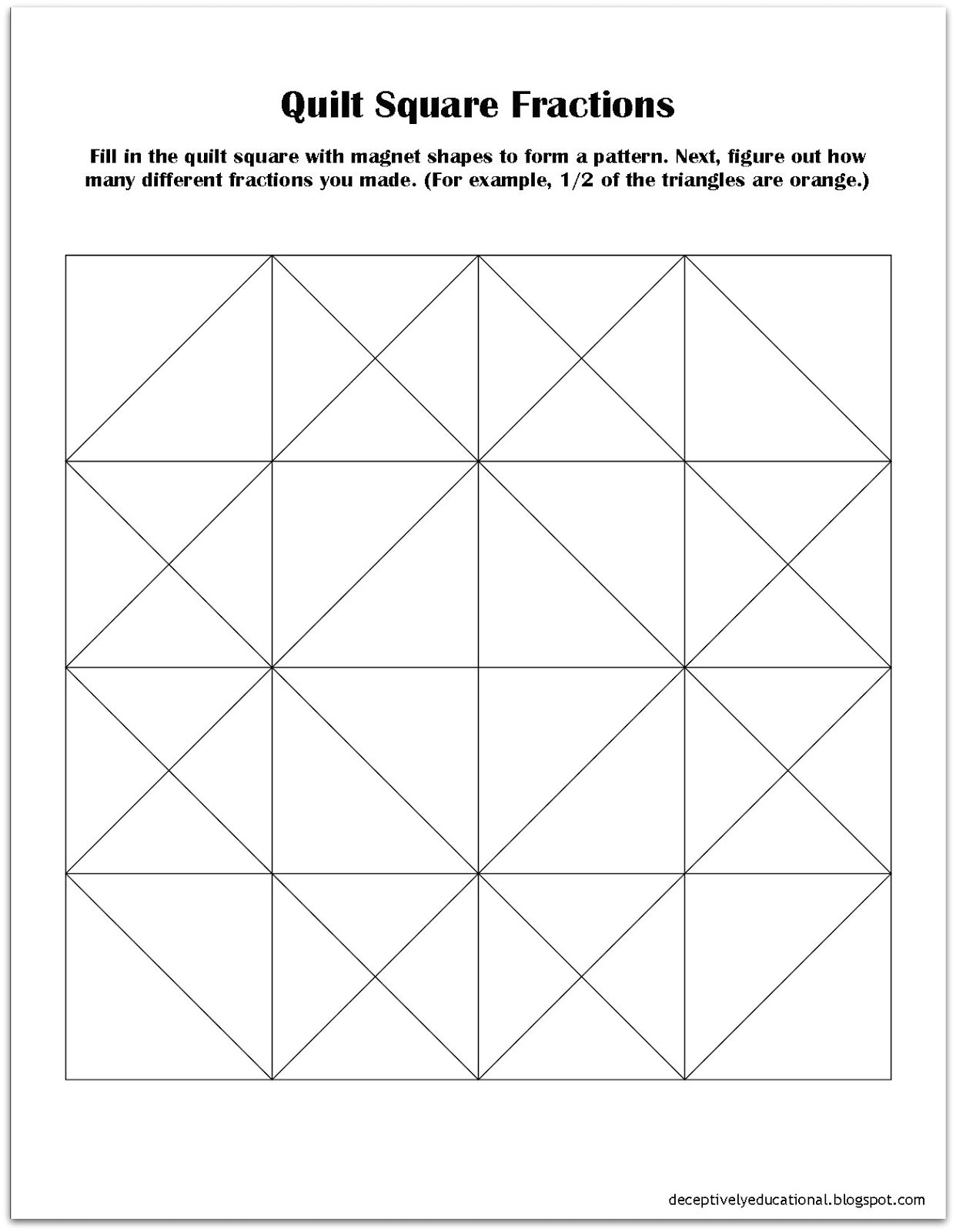 Square Templates for Quilting Relentlessly Fun Deceptively Educational Quilt Square