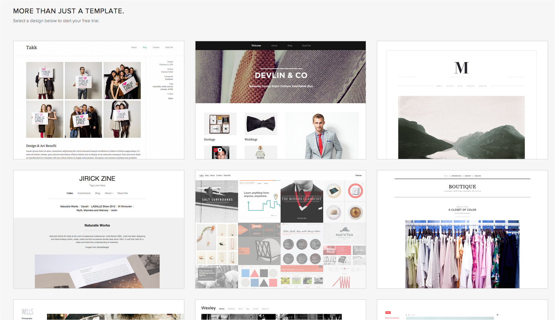 squarespace change template