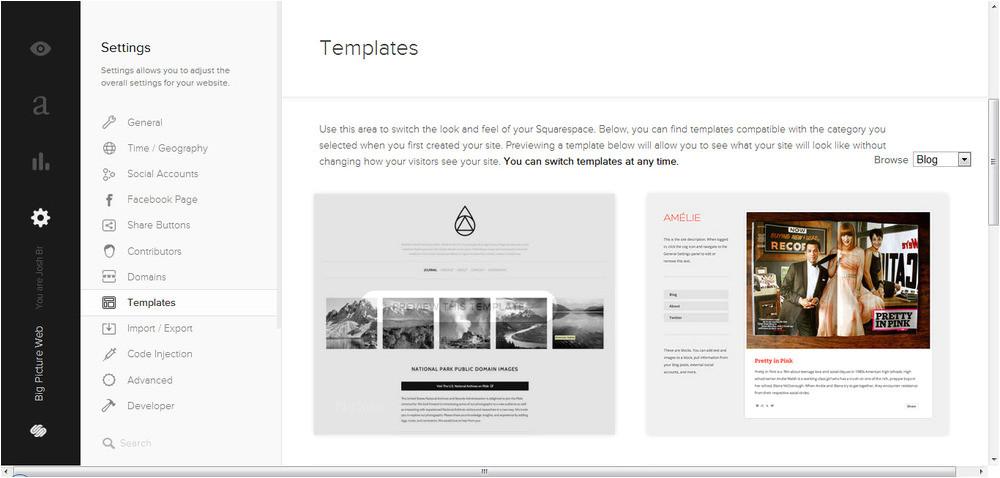 squarespace design templates