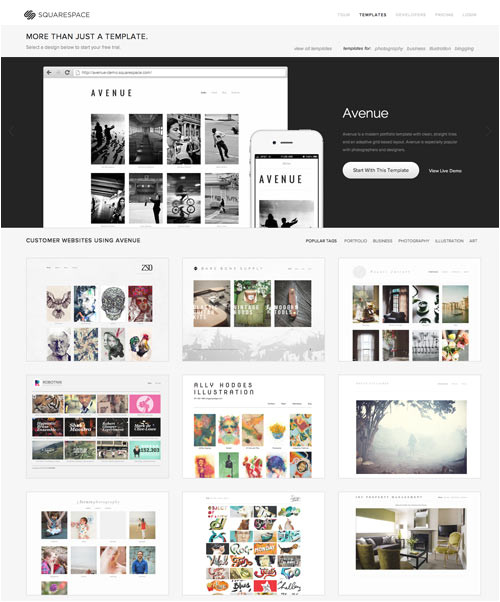 Squarespace.com Templates Try On A New Website In the New Year with Squarespace
