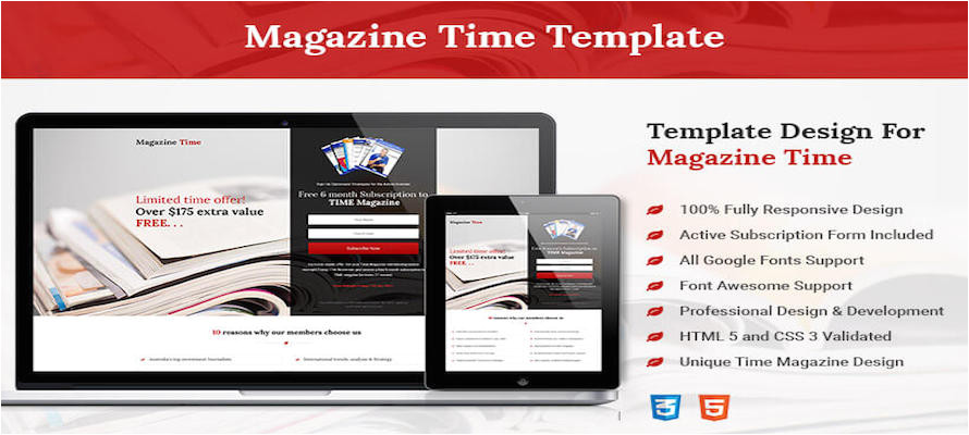 squeeze page template