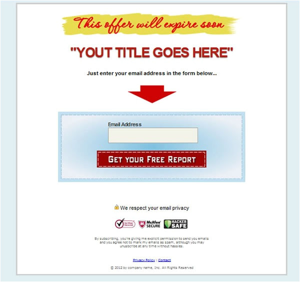 squeeze page templates