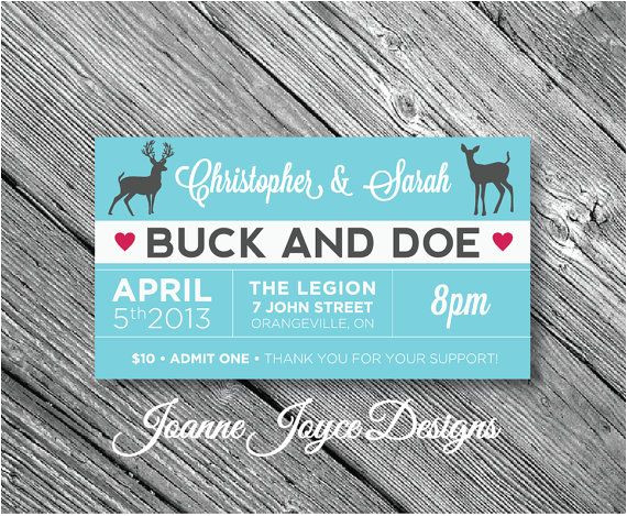 Stag and Doe Ticket Templates 13 Best Jack and Jills Images On Pinterest Stag and Doe