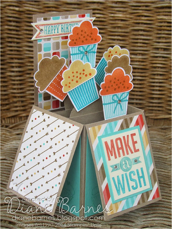 cupcake pop up card in box with template