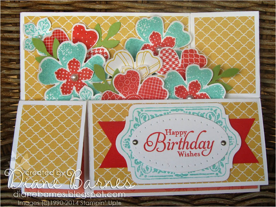 flower shop long card in box with