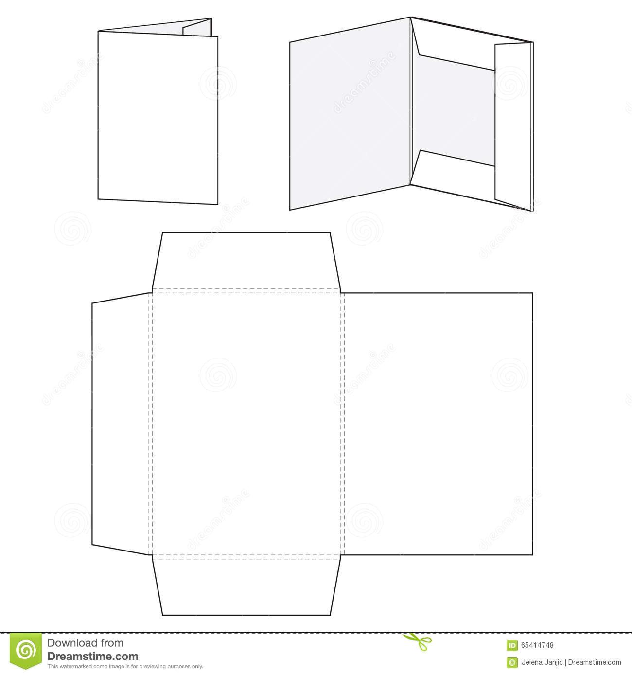 stock illustration blank folder template die cut file vector illustration image65414748
