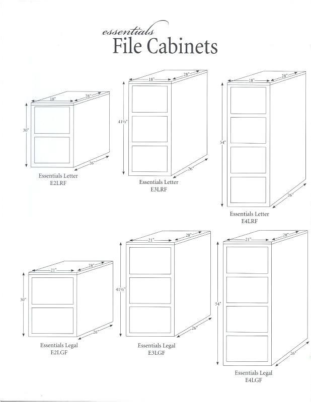 standard filing cabinet width