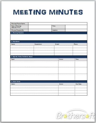 meeting minutes template 512759
