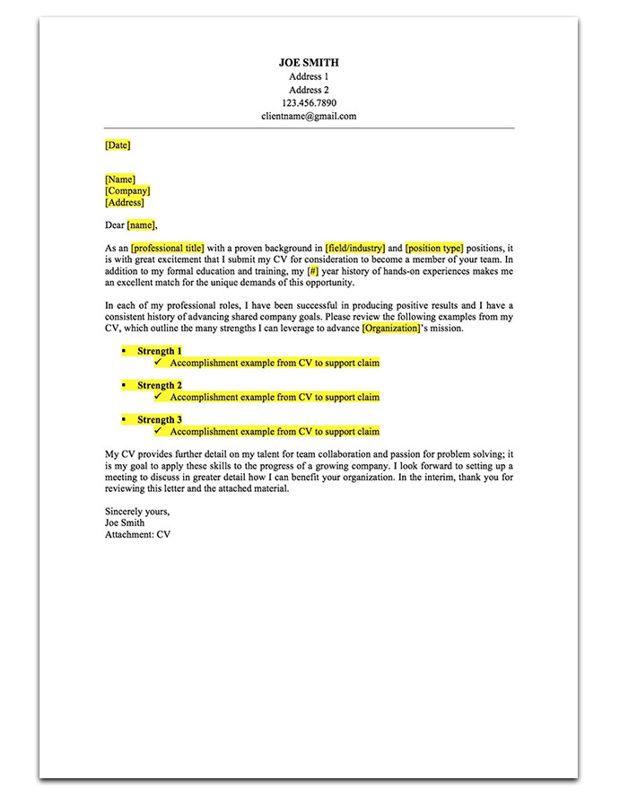 three cover letter samples to help you stand out