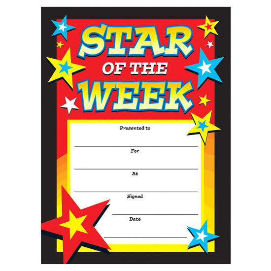 certificates star of the week