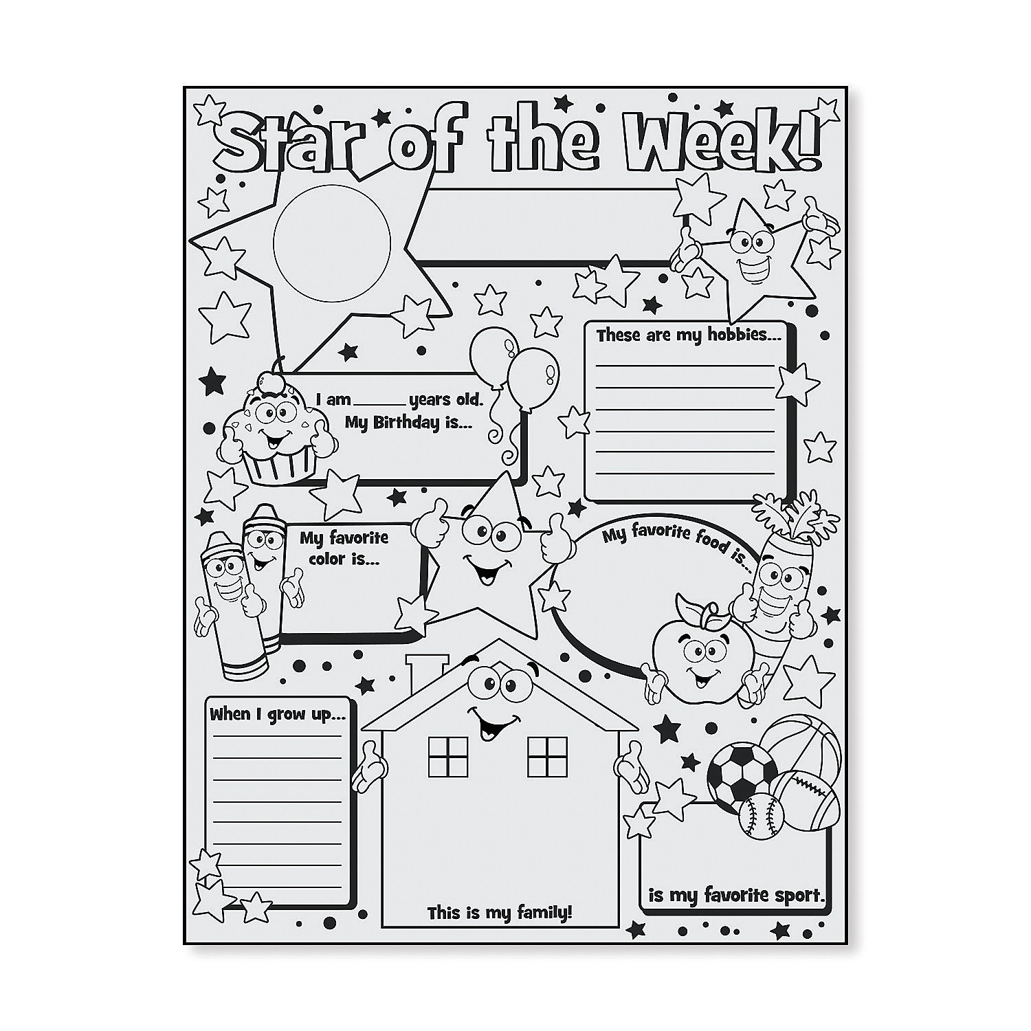 color your own star of the week posters a2 48 9329 fltr