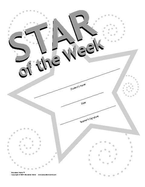 star student of the week template 2