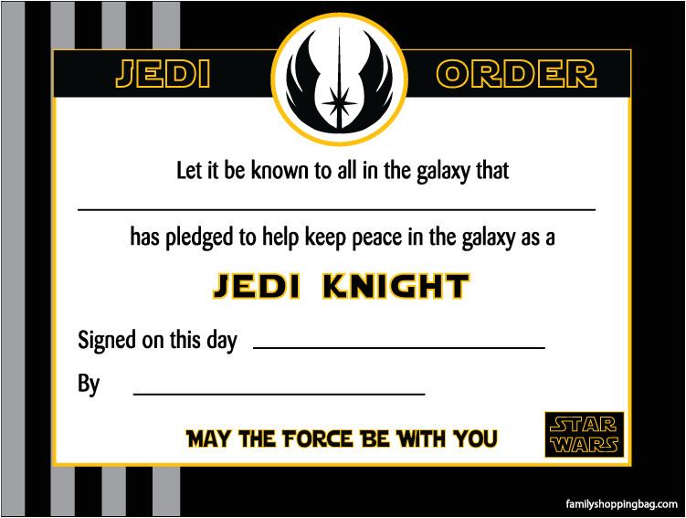 Star Wars Jedi Certificate Template Free Certificate 201403 Png
