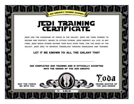 star wars birthday jedi training