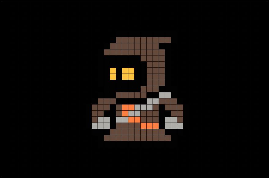 star wars jawa pixel art