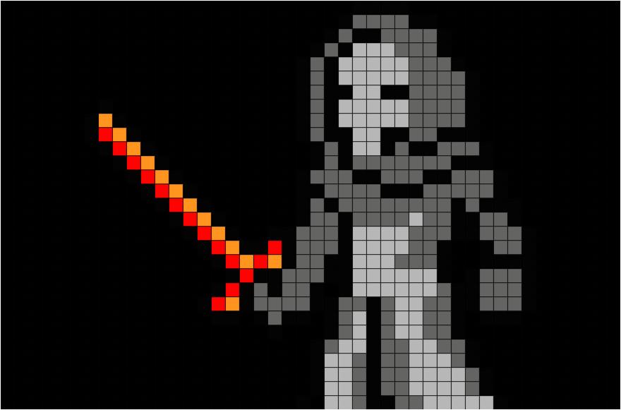 star wars kylo ren pixel art