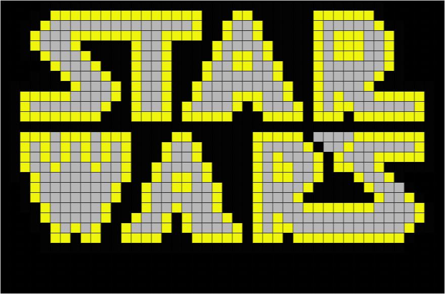 Star Wars Pixel Art Templates Star Wars Logo Pixel Art Brik