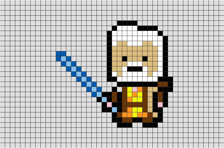 star wars obi wan pixel art