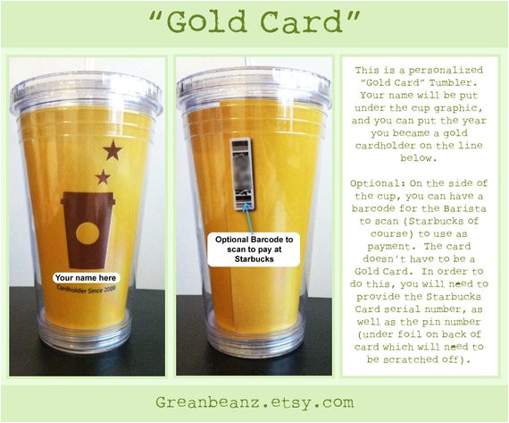 handmade personalized starbucks gold