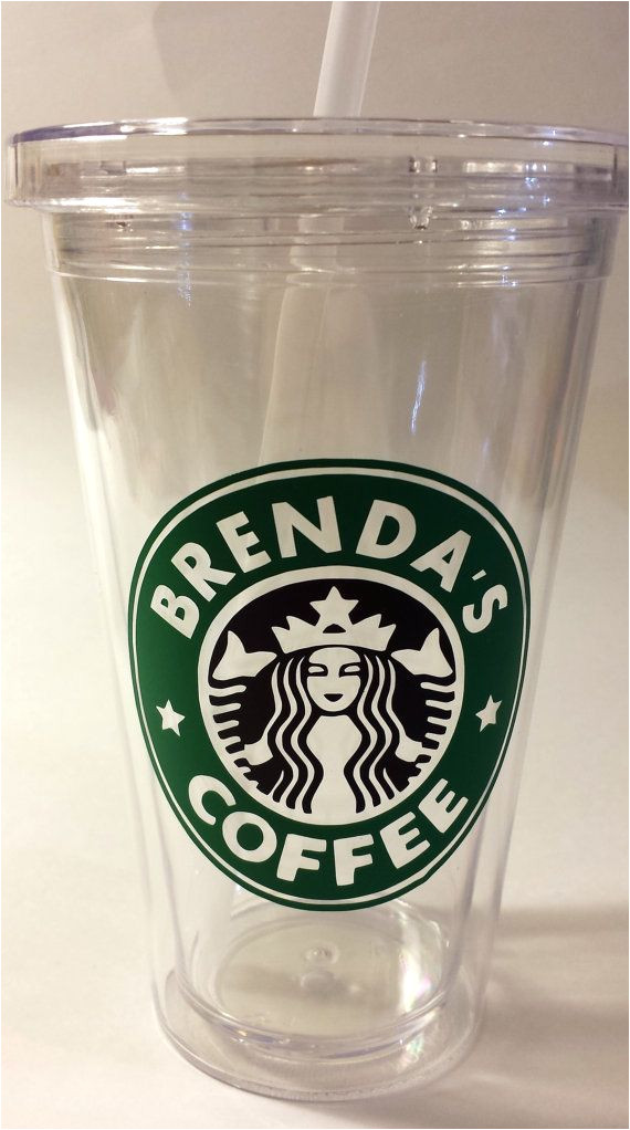 Starbucks Personalized Tumbler Template Personalized Quot Starbucks Quot Decal for Coffee Cup Tumbler