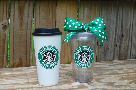 personalized starbucks tumbler available