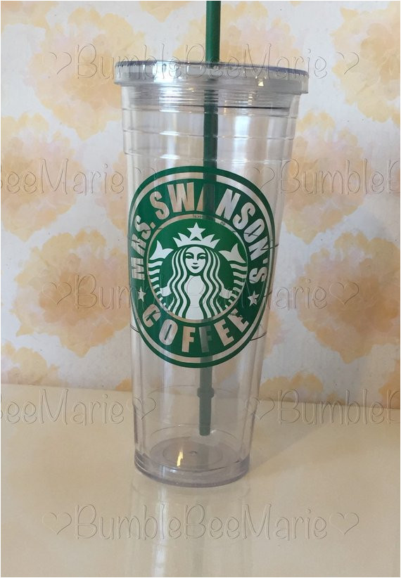 Starbucks Personalized Tumbler Template Starbucks Tumbler Personalized with Any Name or by