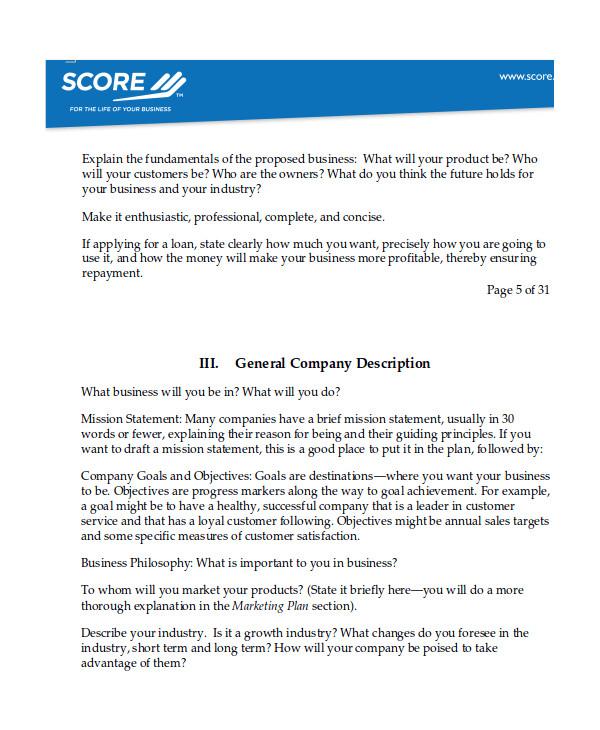 software business plan template