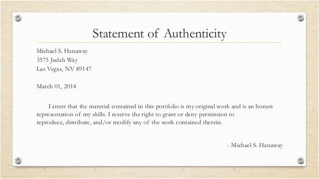 Statement Of Authenticity Template Dissertation Statement Authenticity 100 original