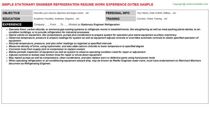 Stationary Engineer Resume Sample Refrigeration Resume Best Hvac and Refrigeration Resume